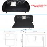 Canapea extensibila Co+Nice KJM719 (negru)