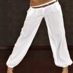 Reducere Pantaloni Temptation White