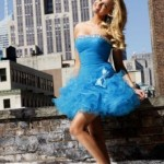 Rochie nunta Sherri Hill Cinderella Blue