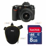 Nikon D90 18-55mm DX + SD Sandisk 8GB + Nikon Geanta SLR Top Loader