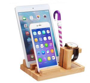 suport de lemn pentru tableta